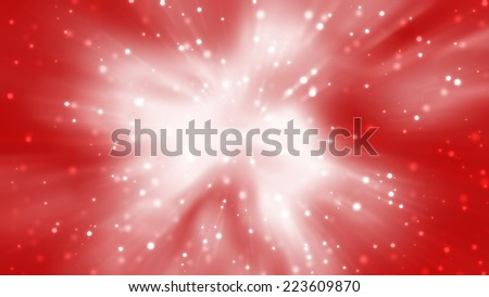 abstract background. explosion star on red - stock photo