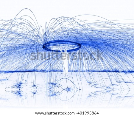 Abstract background fire painting blue color tone.  light painting with sparks. - stock photo