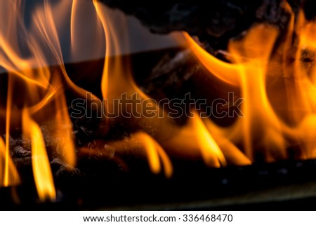 abstract background . flames of fire