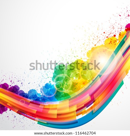 Abstract background forming by watercolor paint splashes.