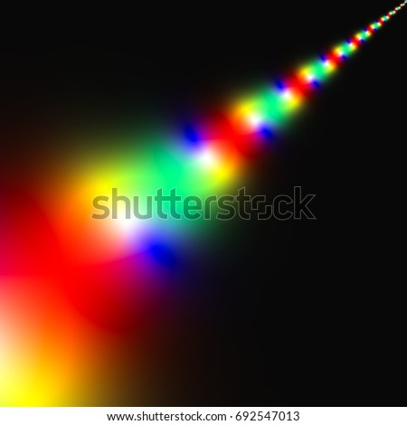 abstract background fractal rainbow element