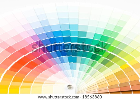 Abstract background from color guide. Close up. - stock photo