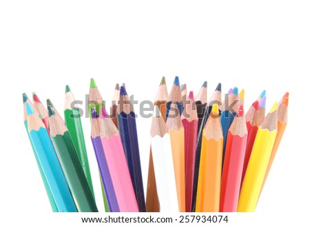Abstract background from color pencils  - stock photo