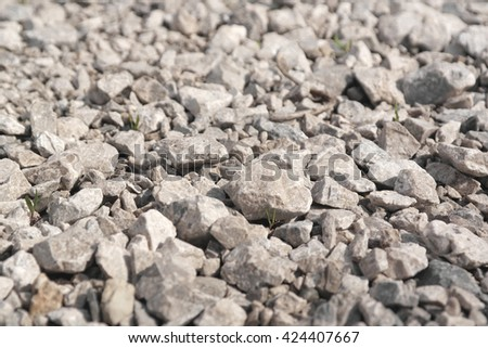 Abstract background from crushed stones, shallow dof