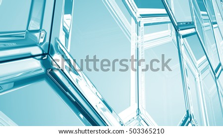 Abstract background from hexagons. 3d illustration. surface of hexagonal tiles closeup