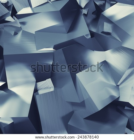 Abstract background from metallic cubes - stock photo