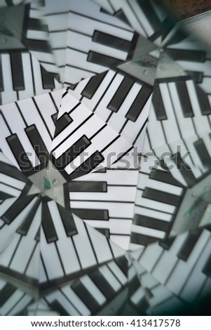 abstract background from piano keys - stock photo