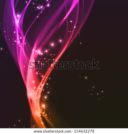 Abstract background, futuristic wavy lines illustration. - stock photo