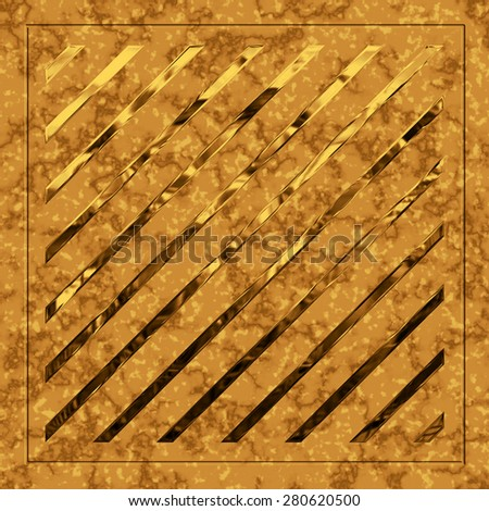 Abstract background glass, metal, granite, mosaic. Tool for designers or idea for interior exterior wall, floor or Background for studio photography. Hand digital painting  illustration. - stock photo