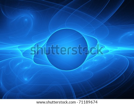 Abstract  background, globe fractal art - stock photo