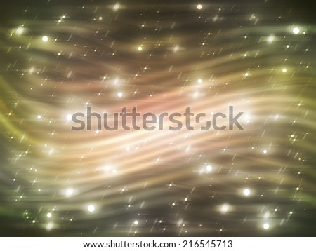 abstract background. gold background with waves and stars