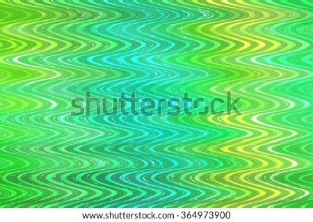 abstract background. Green background with waves and stars