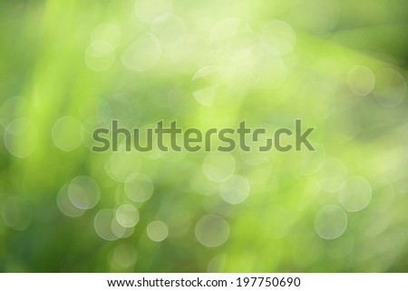 abstract background green bokeh - stock photo