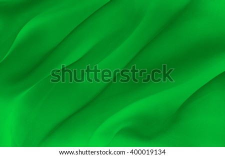 abstract background  green fabric folds - stock photo