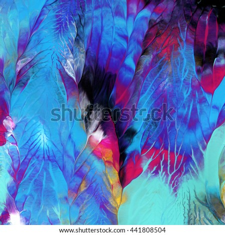 Abstract background, hand painted, acrylic,colorful - stock photo
