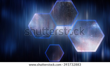 Abstract background, Hexagon digital looks