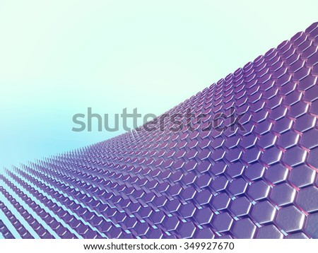 Abstract background hexagonal shapes
