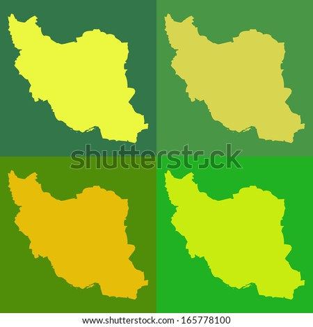 Abstract background illustration with map - Iran