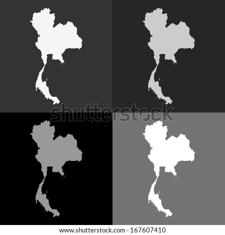 Abstract background illustration with map - Thailand