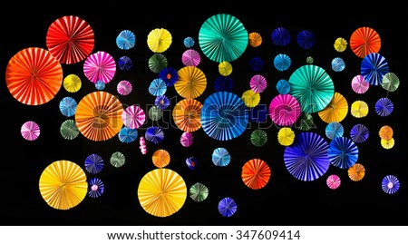 Abstract background image of colorful origami circle  - stock photo