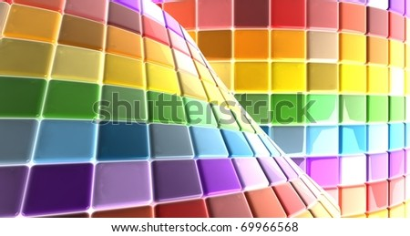 Abstract background image of multi color tiles - stock photo
