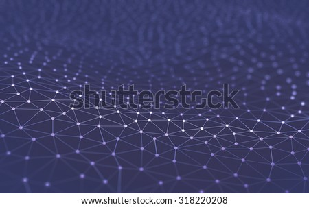 Abstract background in a concept of technology and science.