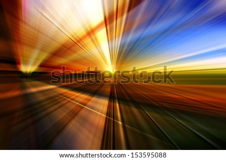 Abstract background in blue, brown, yellow and orange colors. - stock photo