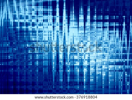 Abstract background in blue colors, imitation polar lights. Horizontal.