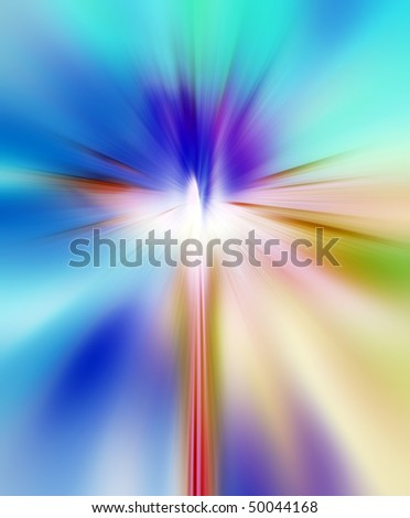 Abstract background in blue, orange and purple tones. - stock photo