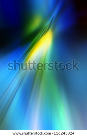 Abstract background in blue, yellow and green colors. - stock photo