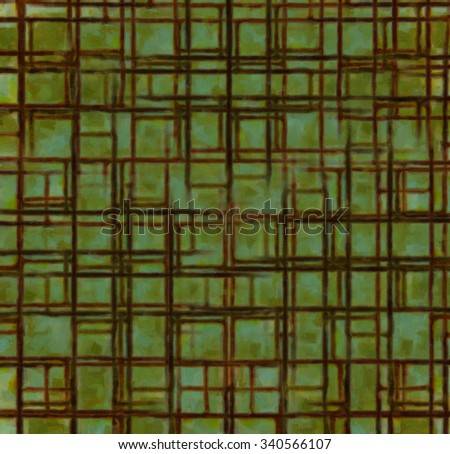 Abstract background in bright color with spots of rust