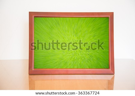 Abstract background in vintage wood frame - stock photo