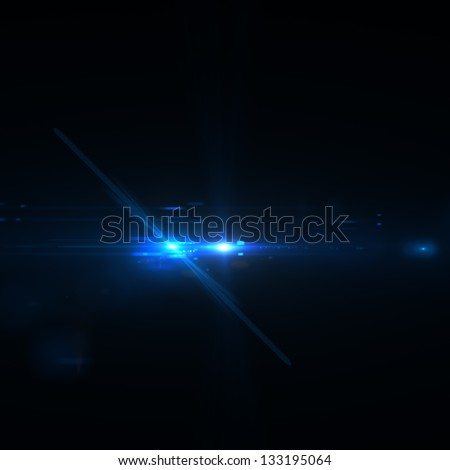 Abstract background lighting flare special effect - stock photo