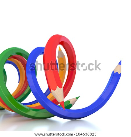 Abstract background line of color pencil illustration