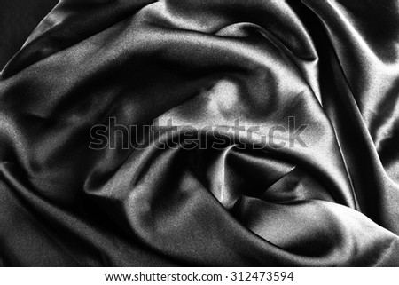 Abstract background luxury cloth or wavy folds of silk texture satin. Toned. - stock photo