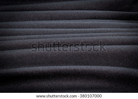 Abstract background luxury  Stripes wave of black fabric texture