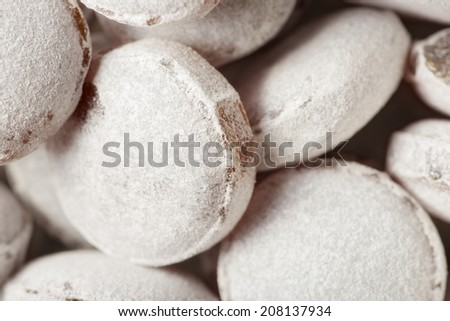Abstract background, macro of sugar candies