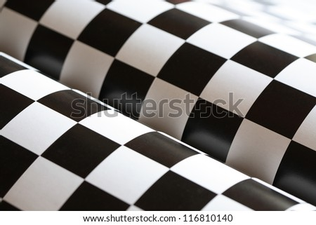 Abstract background made from black and white checkered paper