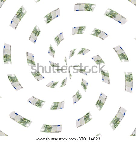 Abstract background made from euro banknote