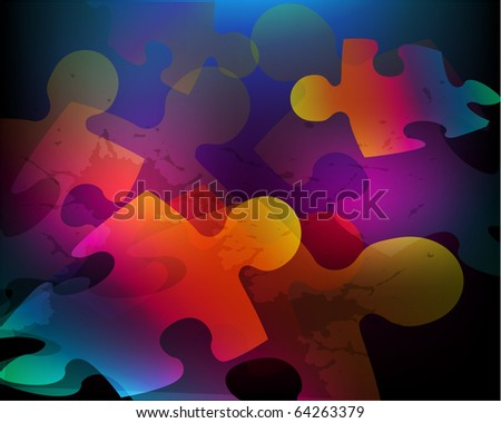 Abstract background made from puzzle pieces Raster version