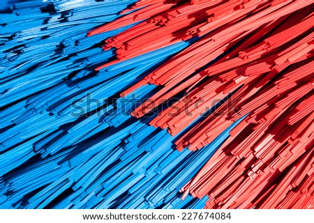 Abstract background made of car-wash brush