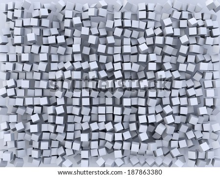 Abstract background made of  cubes - stock photo