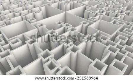 abstract background made of cubes forming net structure