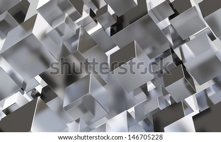 Abstract background made of steel boxes - stock photo