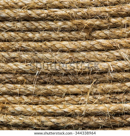 Abstract background made with white rope - stock photo