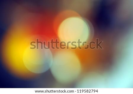 Abstract background, magic lights, bokeh. - stock photo