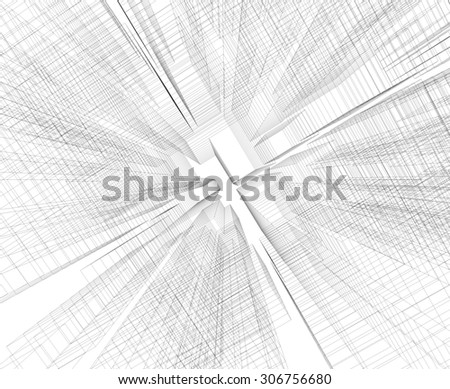Abstract background matrix wireframe space. - stock photo