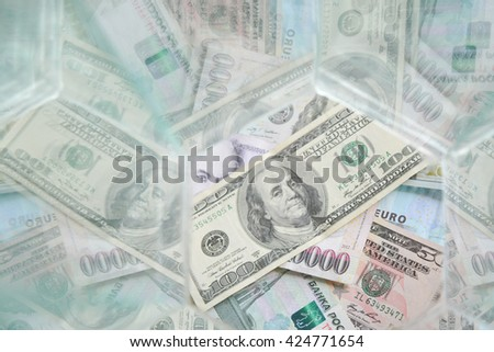 abstract background, money, dollar, euro