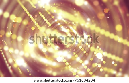 Abstract background  multicolored tunnel. Beautiful illustration background with circles and particles.