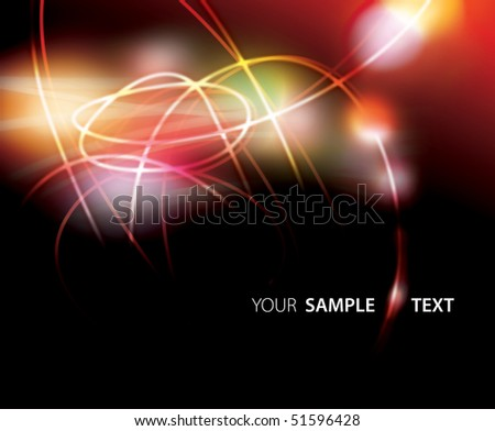 Abstract background. Night lights and loops.